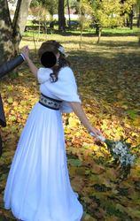 Свадебное платье в греческом стиле!