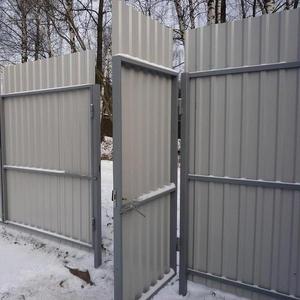 Ворота распашные с калиткой под ключ 3 на 2 метра
