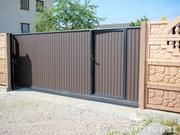 Заборы, ворота, калитки из профнастила и металоштакетника